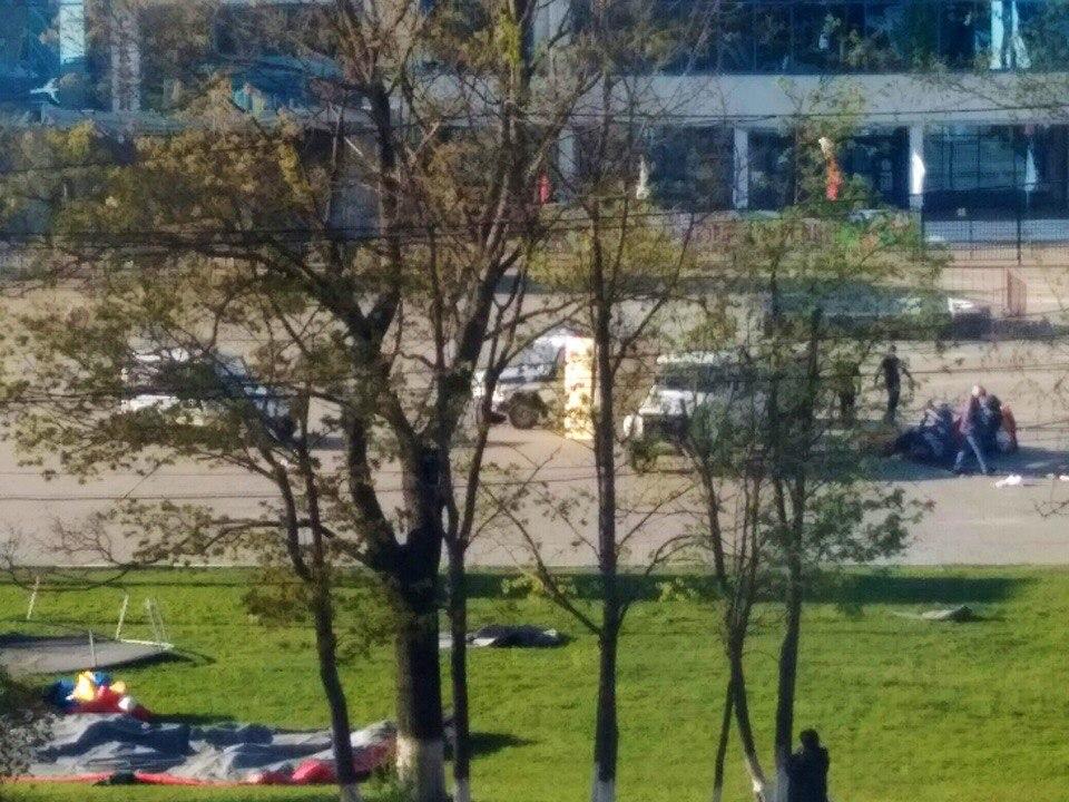 В Можайске взорвался детский надувной городок