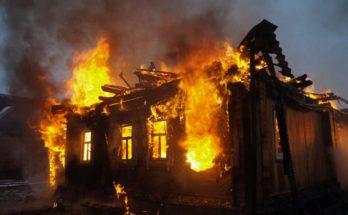 Под Можайском более 4 часов тушили пожар