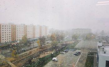 В Можайске выпал первый снег