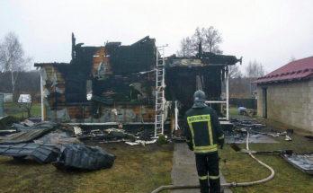 В Псарево сгорел дом