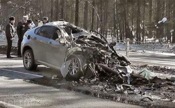 BMW Х6 в гармошку: инспектор ГИБДД погиб на месте