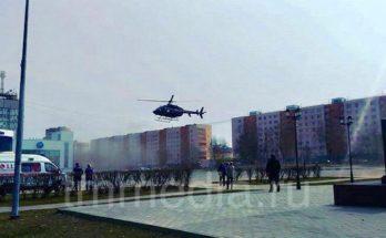 Ребёнка с химическими ожогами доставили на вертолете из Можайска в Москву