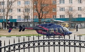 Вертолёт санавиации вновь прилетал за больным из Можайска