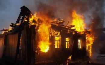 В деревне Можайска сгорел дом