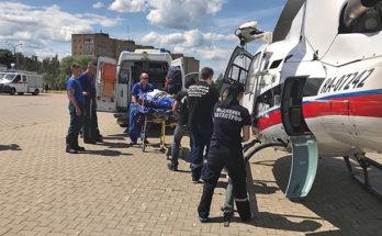 Женщину с ожогами доставили в московскую клинику на вертолете