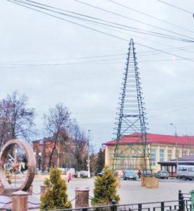 В центе Можайска установили новогоднюю ёлку