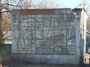 В Можайске историческое панно из мозаики может исчезнуть под натиском стройтехники